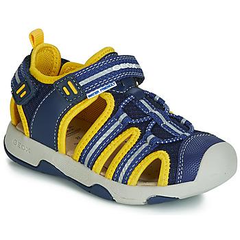 Παπούτσια Αγόρι Σανδάλια / Πέδιλα Geox B SANDAL MULTY BOY Μπλέ / Yellow