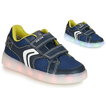 Παπούτσια Αγόρι Χαμηλά Sneakers Geox J KOMMODOR BOY Μπλέ / Led