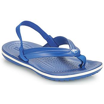 Παπούτσια Παιδί Σανδάλια / Πέδιλα Crocs CROCBAND STRAP FLIP K Μπλέ