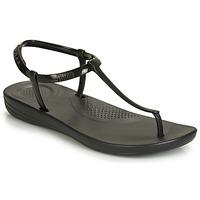 Παπούτσια Γυναίκα Σαγιονάρες FitFlop IQUSHION SPLASH - PEARLISED Μαυρο