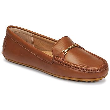 Παπούτσια Γυναίκα Μοκασσίνια Lauren Ralph Lauren BRIONY Cognac