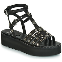 Παπούτσια Γυναίκα Σανδάλια / Πέδιλα Fru.it 5433-476 Black / Clou