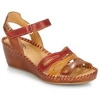 Παπούτσια Γυναίκα Σανδάλια / Πέδιλα Pikolinos MARGARITA 943 Red / Brown