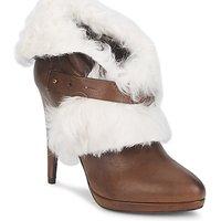 Παπούτσια Γυναίκα Μποτίνια Roberto Cavalli QPS586-PJ027 Brown / Άσπρο
