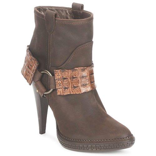 Παπούτσια Γυναίκα Μποτίνια Roberto Cavalli QPS577-PK206 Brown