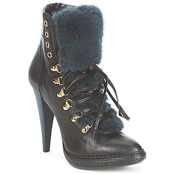 Παπούτσια Γυναίκα Μποτίνια Roberto Cavalli QPS583-PZ260 Brown