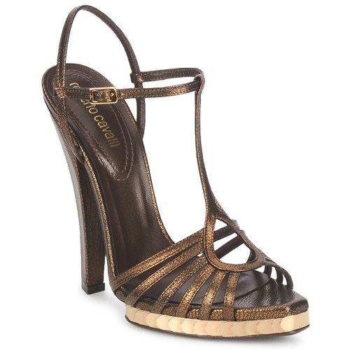 Παπούτσια Γυναίκα Σανδάλια / Πέδιλα Roberto Cavalli QDS627-PM027 Bronze