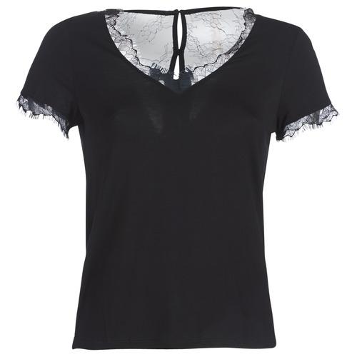 Υφασμάτινα Γυναίκα T-shirt με κοντά μανίκια Morgan DMINOL Black