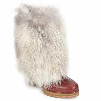 Παπούτσια Γυναίκα Μποτίνια D&G DS3553 Brown / Beige