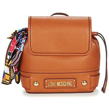 Τσάντες Γυναίκα Σακίδια πλάτης Love Moschino JC4037PP17 Cognac