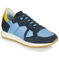 Παπούτσια Γυναίκα Χαμηλά Sneakers Philippe Model Paris MONACO VINTAGE BASIC Μπλέ / Yellow
