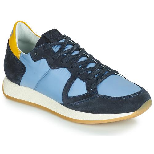 Παπούτσια Γυναίκα Χαμηλά Sneakers Philippe Model MONACO VINTAGE BASIC Μπλέ / Yellow