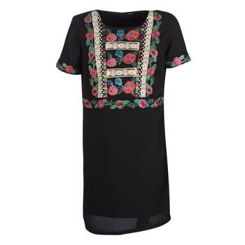 Υφασμάτινα Γυναίκα Κοντά Φορέματα Desigual TRALEE Black