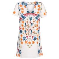 Υφασμάτινα Γυναίκα Κοντά Φορέματα Desigual CORK Άσπρο