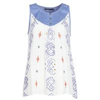 Υφασμάτινα Γυναίκα Αμάνικα / T-shirts χωρίς μανίκια Desigual MEKANE Άσπρο / Μπλέ