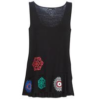 Υφασμάτινα Γυναίκα Αμάνικα / T-shirts χωρίς μανίκια Desigual MELISA Black