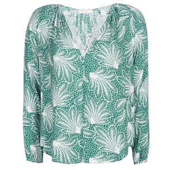 Υφασμάτινα Γυναίκα Μπλούζες See U Soon GARAGAVE Green / Άσπρο