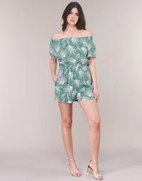 Υφασμάτινα Γυναίκα Ολόσωμες φόρμες / σαλοπέτες See U Soon GARAGABE Green / Άσπρο