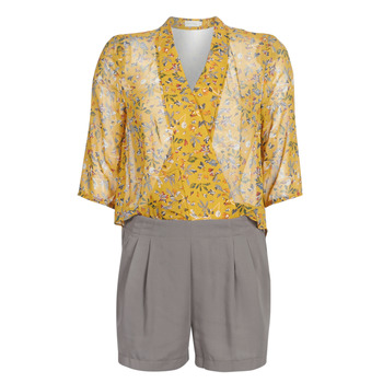 Υφασμάτινα Γυναίκα Ολόσωμες φόρμες / σαλοπέτες See U Soon GARAGALE Yellow / Kaki