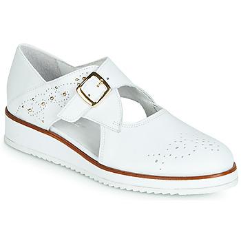 Παπούτσια Γυναίκα Derby Regard RIXALO V1 NAPPA BLANC Άσπρο