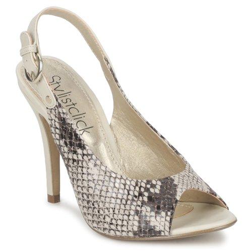 Παπούτσια Γυναίκα Σανδάλια / Πέδιλα StylistClick RUTH Beige / Celadon