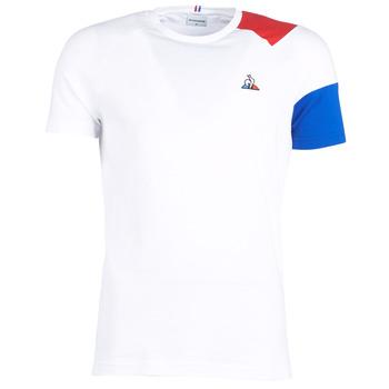 Υφασμάτινα Άνδρας T-shirt με κοντά μανίκια Le Coq Sportif ESS Tee SS N°10 M Άσπρο / Red / Μπλέ