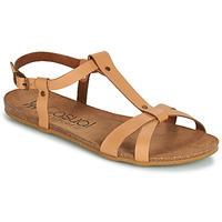 Παπούτσια Γυναίκα Σανδάλια / Πέδιλα Casual Attitude JALIYAXE Camel