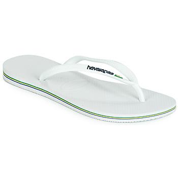 Παπούτσια Γυναίκα Σαγιονάρες Havaianas SLIM BRASIL LOGO Ασπρό