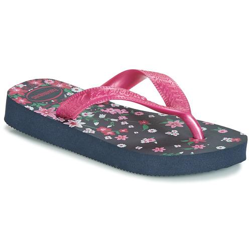Παπούτσια Κορίτσι Σαγιονάρες Havaianas KIDS FLORES Marine / Ροζ