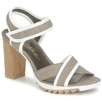 Παπούτσια Γυναίκα Σανδάλια / Πέδιλα Espace GENIEVRE Grey / άσπρο