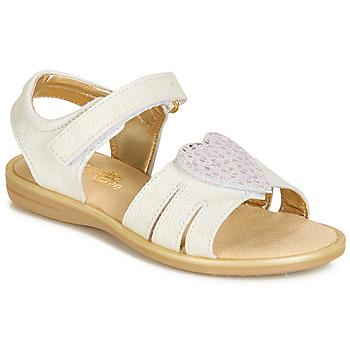 Παπούτσια Κορίτσι Σανδάλια / Πέδιλα Citrouille et Compagnie JAFILOUTE Άσπρο
