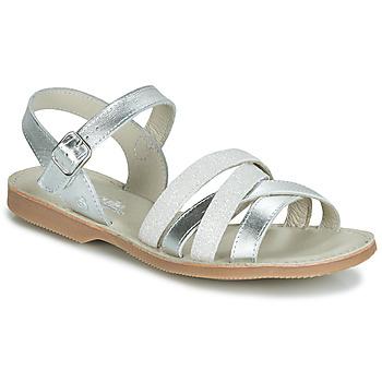 Παπούτσια Κορίτσι Σανδάλια / Πέδιλα Citrouille et Compagnie JAGUINOIX Grey / Silver