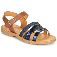 Παπούτσια Κορίτσι Σανδάλια / Πέδιλα Citrouille et Compagnie JOLICOTE Marine / Camel