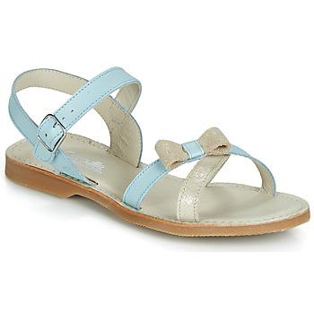 Παπούτσια Κορίτσι Σανδάλια / Πέδιλα Citrouille et Compagnie JISCOTTE Μπλέ /  clair