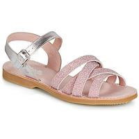 Παπούτσια Κορίτσι Σανδάλια / Πέδιλα Citrouille et Compagnie JARDINA Ροζ