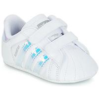 Παπούτσια Κορίτσι Χαμηλά Sneakers adidas Originals SUPERSTAR CRIB Άσπρο