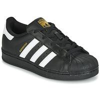 Παπούτσια Παιδί Χαμηλά Sneakers adidas Originals SUPERSTAR C Black / Άσπρο