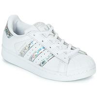 Παπούτσια Κορίτσι Χαμηλά Sneakers adidas Originals SUPERSTAR C Άσπρο / Silver
