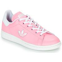 Παπούτσια Κορίτσι Χαμηλά Sneakers adidas Originals STAN SMITH J Ροζ