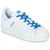 Παπούτσια Κορίτσι Χαμηλά Sneakers adidas Originals SUPERSTAR J Άσπρο / Μπλέ