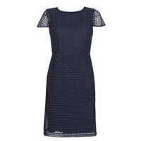 Υφασμάτινα Γυναίκα Κοντά Φορέματα Lauren Ralph Lauren NAVY SHORT SLEEVE DAY DRESS Marine