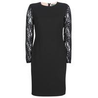 Υφασμάτινα Γυναίκα Κοντά Φορέματα Lauren Ralph Lauren LACE PANEL JERSEY DRESS Black
