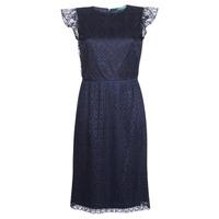 Υφασμάτινα Γυναίκα Κοντά Φορέματα Lauren Ralph Lauren LACE CAP SLEEVE DRESS Marine
