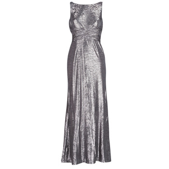 Μακριά Φορέματα Lauren Ralph Lauren SLEEVELESS EVENING DRESS GUNMETAL Σύνθεση: Π γυναίκα   γυναικεία ένδυση   μακριά φορέματα