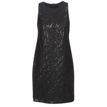 Υφασμάτινα Γυναίκα Κοντά Φορέματα Lauren Ralph Lauren SEQUINED SLEEVELESS DRESS Black