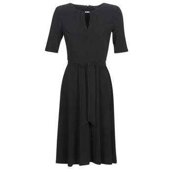 Υφασμάτινα Γυναίκα Κοντά Φορέματα Lauren Ralph Lauren 3/4 SLEEVE  JERSEY DAY DRESS Black