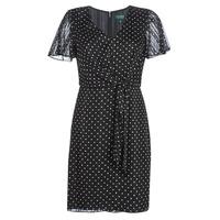 Υφασμάτινα Γυναίκα Κοντά Φορέματα Lauren Ralph Lauren POLKA DOT-SHORT SLEEVE-DAY DRESS Black