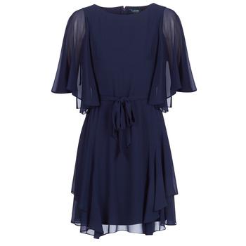 Υφασμάτινα Γυναίκα Κοντά Φορέματα Lauren Ralph Lauren NAVY-3/4 SLEEVE-DAY DRESS Marine