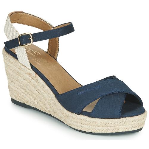 Παπούτσια Γυναίκα Σανδάλια / Πέδιλα Tom Tailor 6990101-NAVY Marine