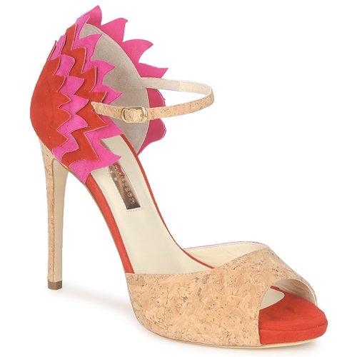 Παπούτσια Γυναίκα Σανδάλια / Πέδιλα Rupert Sanderson FLAMANTE Red / Black